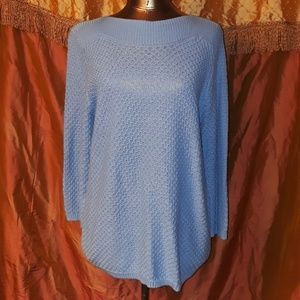 **** Croft &Barrow Classic Style Knit Sweater Blue
